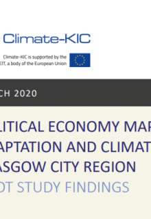 Political economy mapping of adaptation and climate resilience in Glasgow City Region